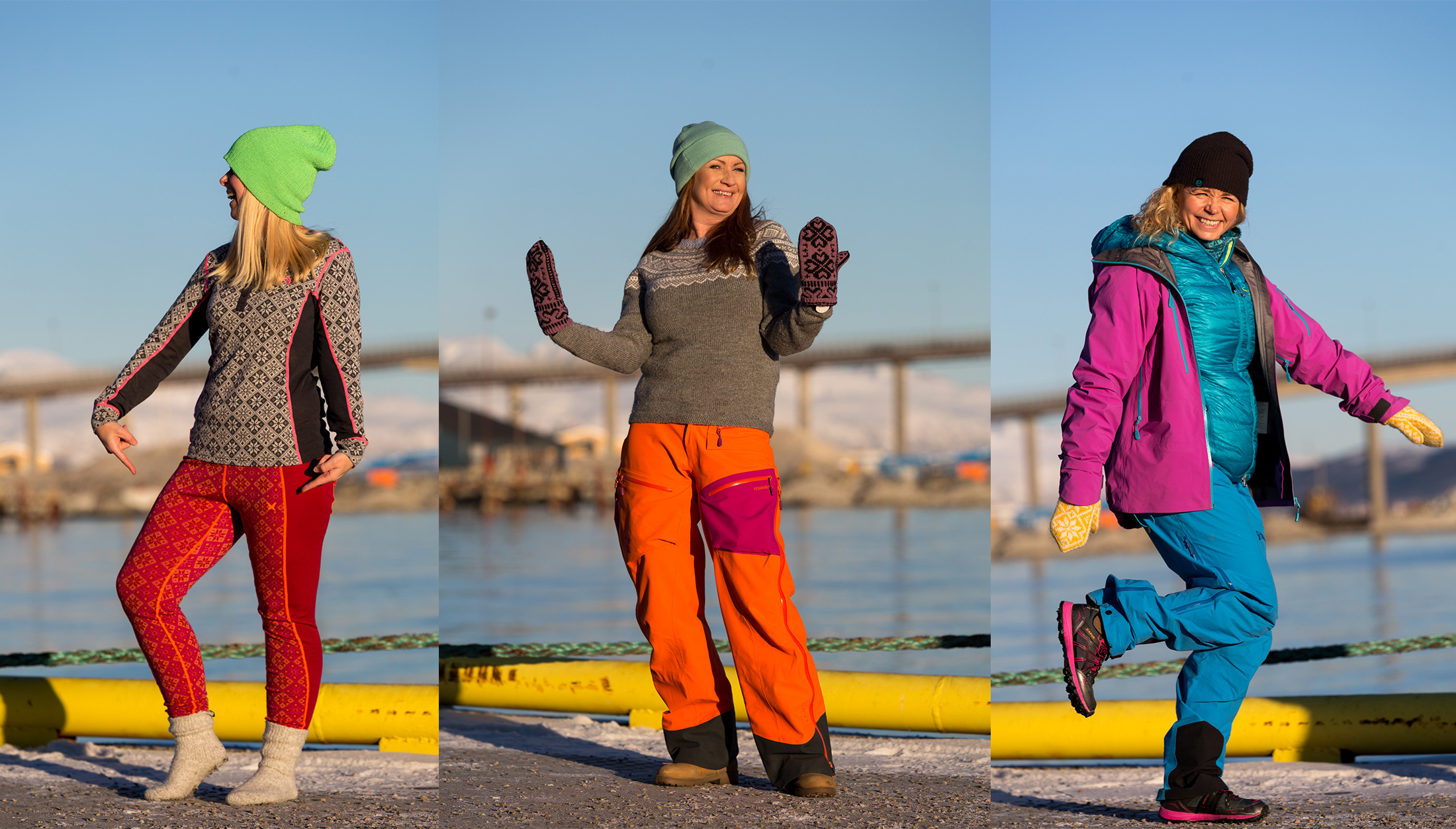 Women in winter clothing in Tromsø city centre