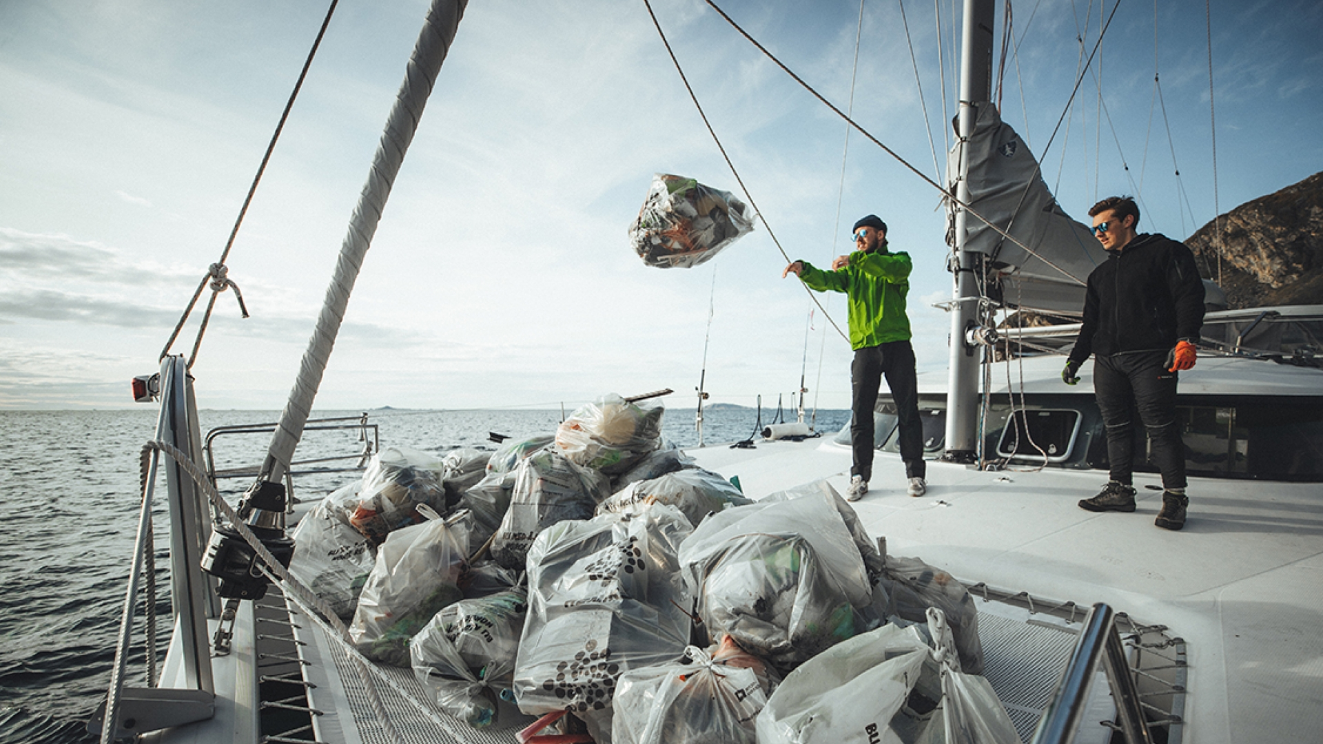 Boats are used to move the trash from remote beaches back to Tromsø to be recycled