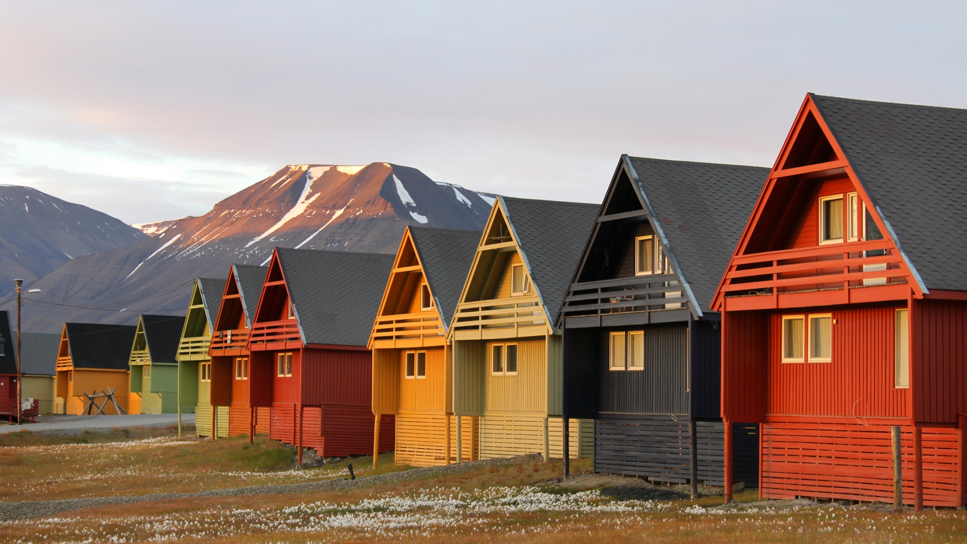 Coloured houses in Longyearbyen, Svalbard