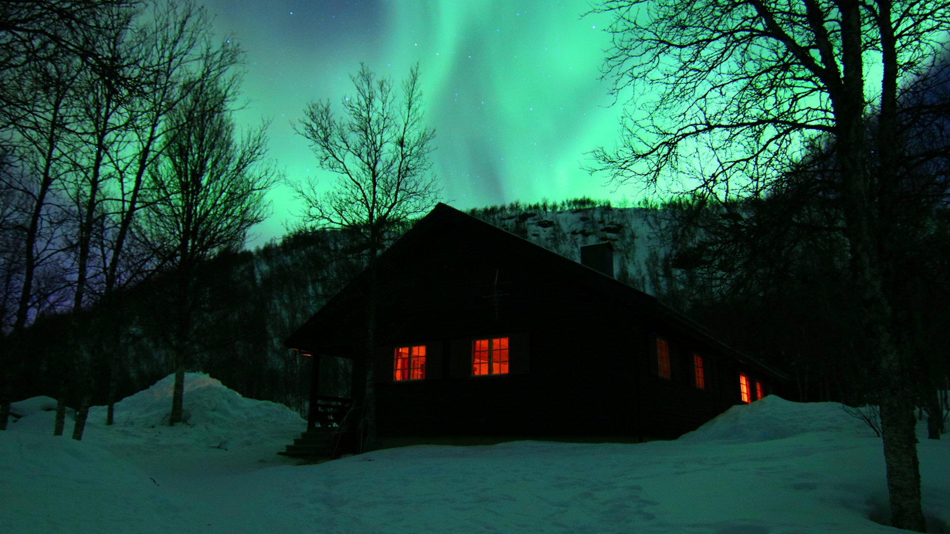 nordlys over Polar Cabin