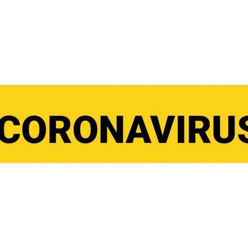 Warning sign coronavirus