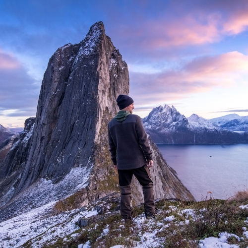 man in viewpoint senja