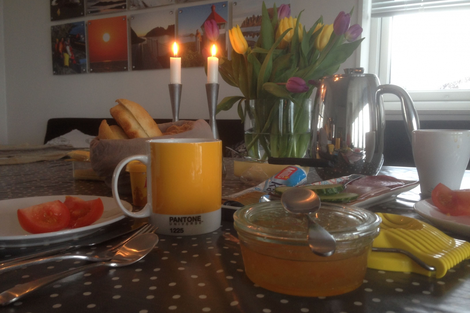 Breakfast and candles
