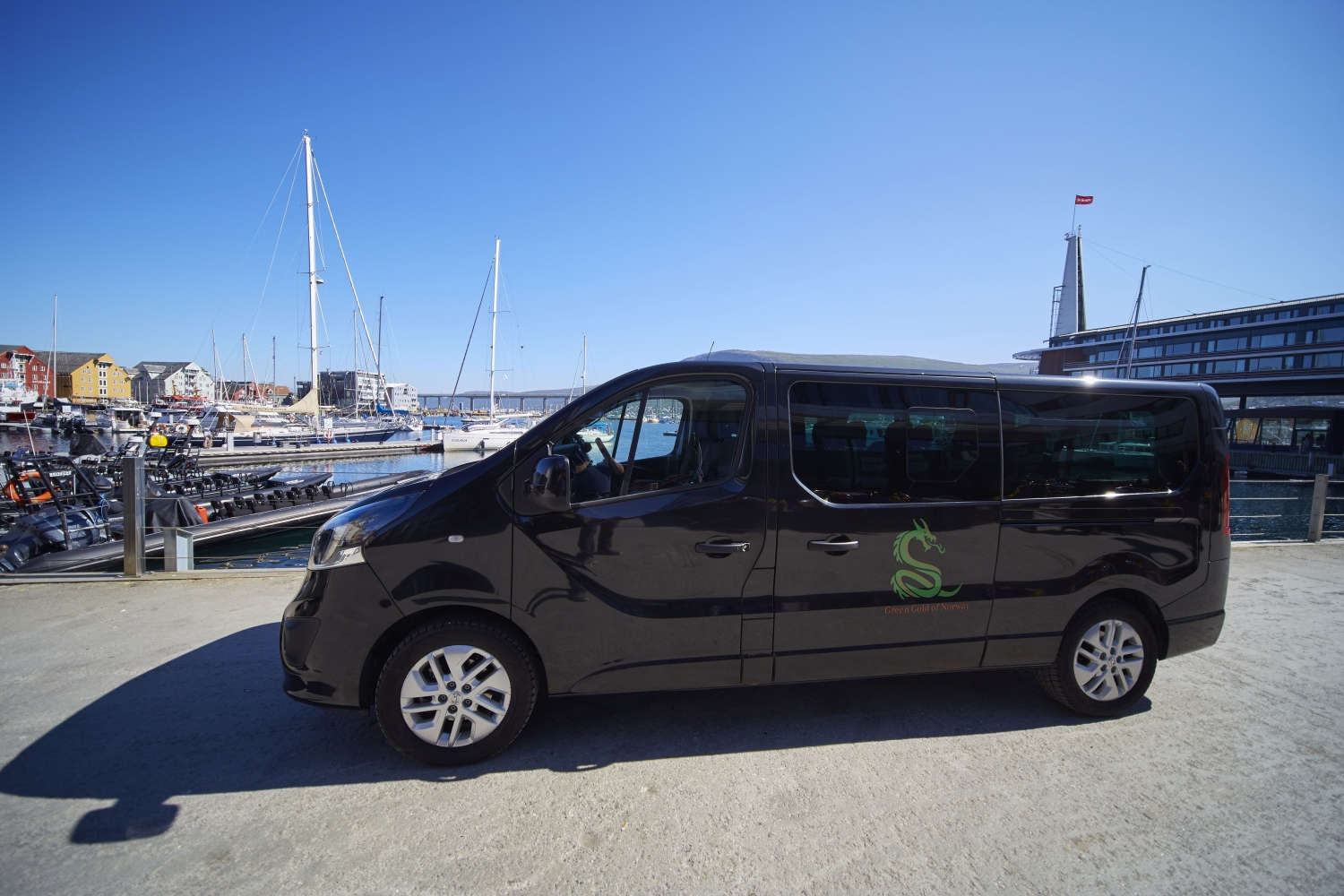 the black green gold of norway minivan
