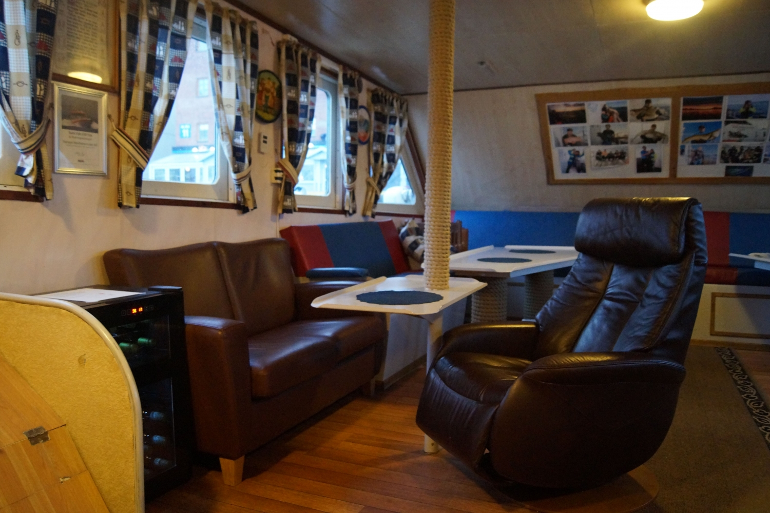 Inside of the catamaran MB Havcruise