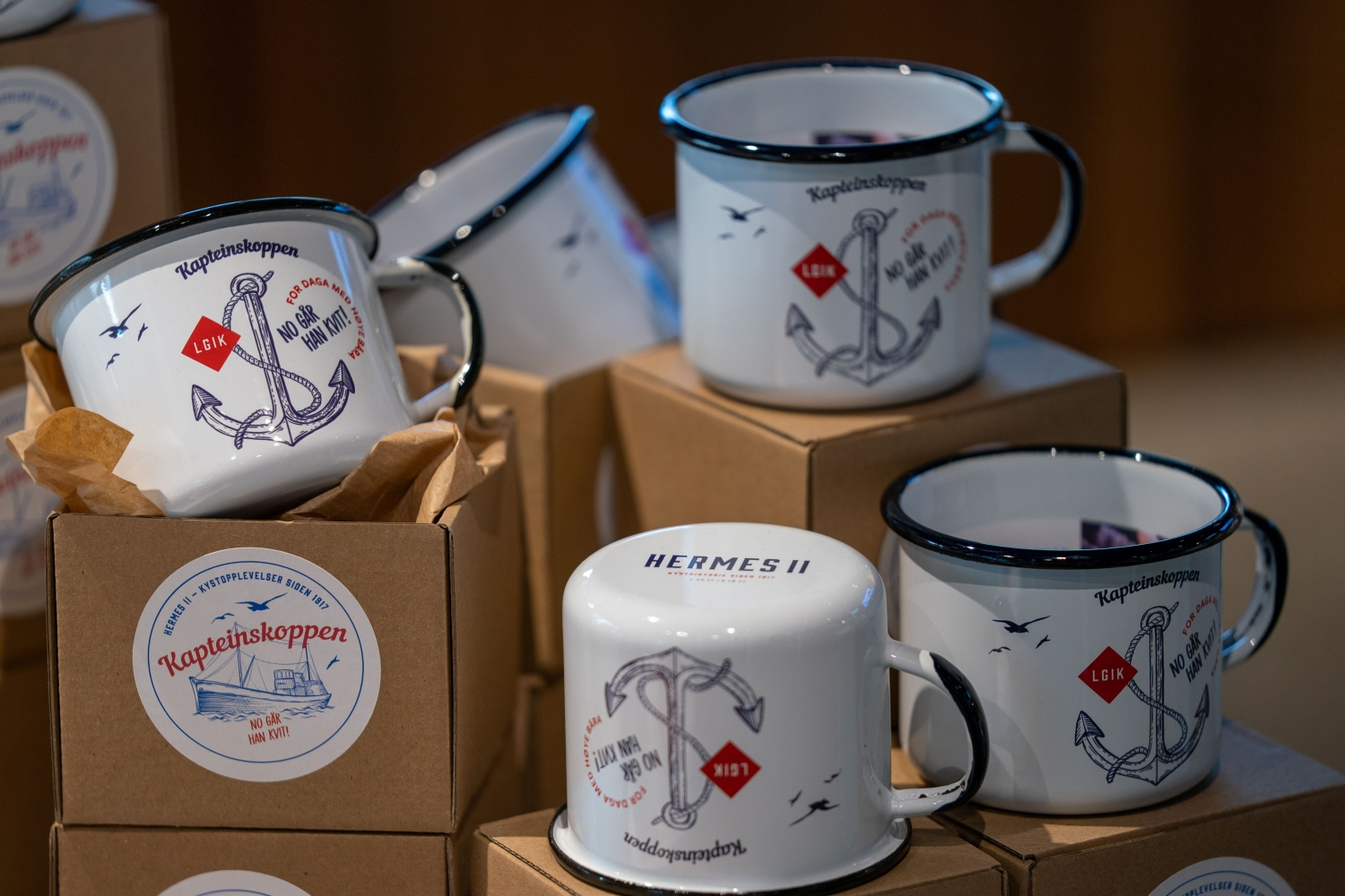 Cups with Hermes 2 logo