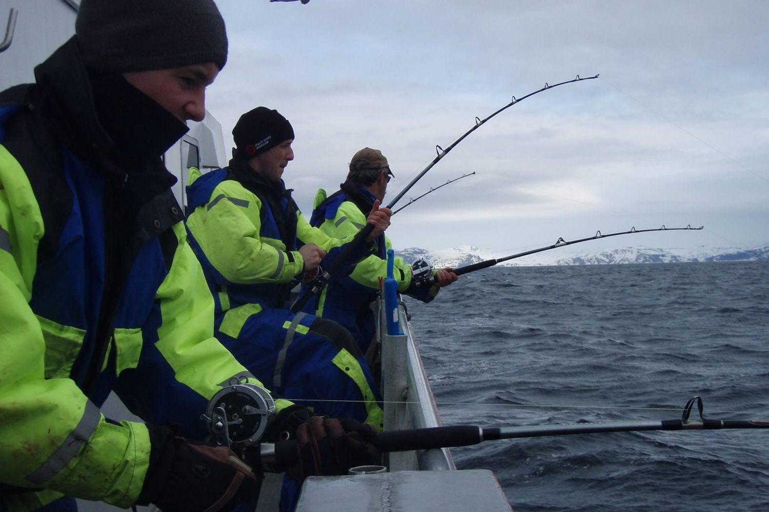 Guests fishing with fishing rods
