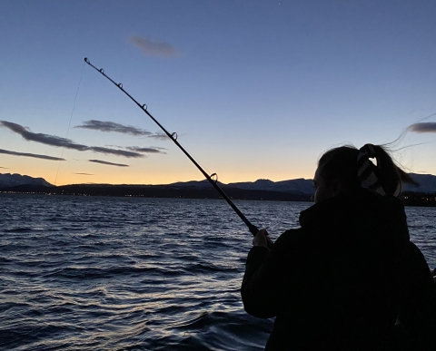 Fishing outside of Tromsø
