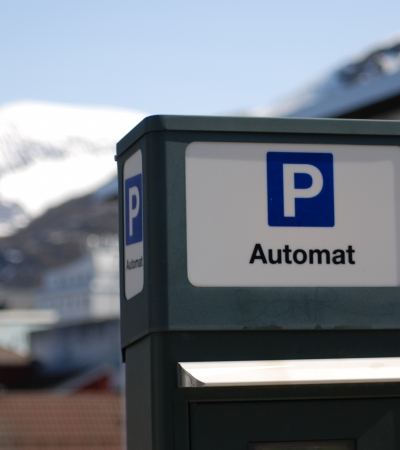 Parking machine in Tromsø city centre