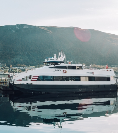 Express boat at Prostneset Harbour Terminal
